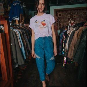 VTG 80's || GUESS|| knee pocket high waist jeans